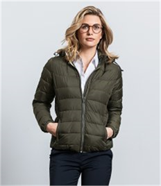 Russell Ladies Hooded Nano Padded Jacket