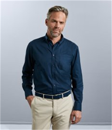 Russell Collection Long Sleeve Classic Twill Shirt