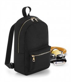 BagBase Metallic Zip Mini Backpack