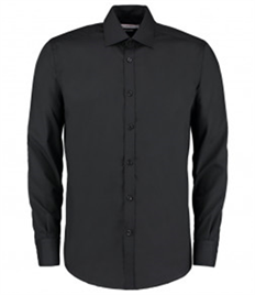 Kustom Kit Long Sleeve Slim Fit Business Shirt