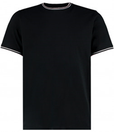 Kustom Kit Fashion Fit Tipped T-Shirt