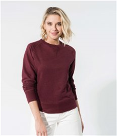 Kariban Ladies Organic Raglan Sweatshirt