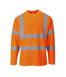 Portwest Hi-Vis T-Shirt Long Sleeves