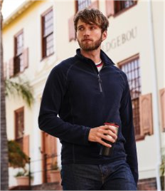 Regatta Parkline Zip Neck Mini Stripe Micro Fleece
