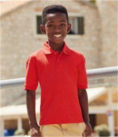 Fruit of the Loom Kids Poly/Cotton Piqué Polo Shirt