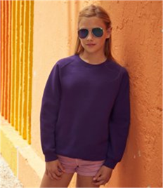 Fruit of the Loom Kids Premium Raglan Sweatshirt