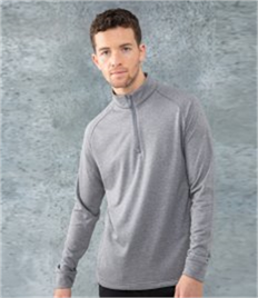 Henbury Zip Neck Wicking Top