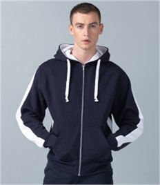 Finden and Hales Contrast Zip Hooded Sweatshirt