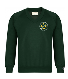ADULT V-Neck Sweater with Warboys Community School Embroidered