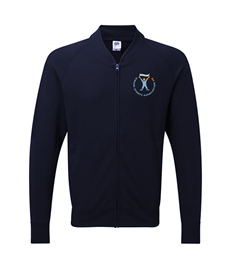 DSA UK Deep Navy Baseball Sweatshirt Jacket