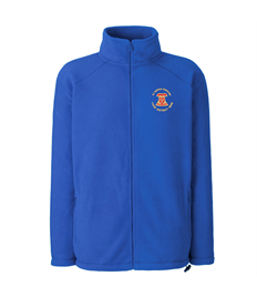 Full zip fleece with embroidered Diocese of Ely Bellringers logo