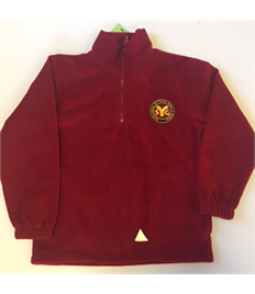 SYG Senior Leaders Red Fleece with embroidered logo