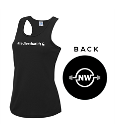 """NW Fitness Woman's Cool Vest """"ladies that lift"""""""