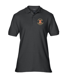 Premium Cotton Polo Shirt with embroidered Diocese of Ely Bellringers logo