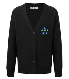 ONLY FOR YEAR 6 Black Cardigan with Embroidered Logo