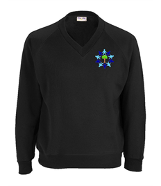 ONLY FOR YEAR 6 Black Sweatshirt with Embroidered Logo