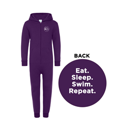 Little Aqua Kids Eat Sleep Swim Repeat Onesie Ages 3-13 years
