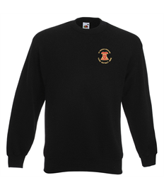 Sweatshirt with embroidered Diocese of Ely Bellringers logo