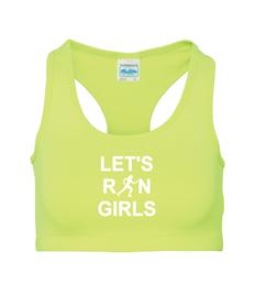 Let's Run Girls Sports Crop Top