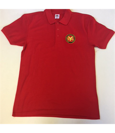 SYG Seniors Leaders Red Polo Shirt with Embroidered Logo