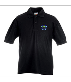 ONLY FOR YEAR 6 Black Polo Shirt with Embroidered Logo