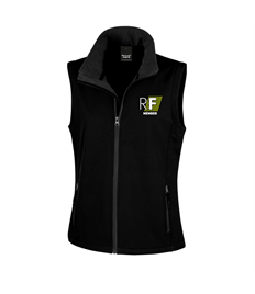 Realfit embroidered Women's softshell bodywarmer
