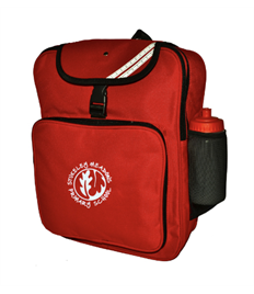 Red Junior Backpack with embroidered logo