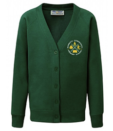 NEW Cardigan with Warboys Community School Embroidered