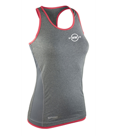 NW Fitness Women's Stringer Back Top Marl