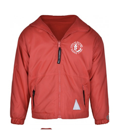 Red Reversible Fleece Jacket with embroidered logo