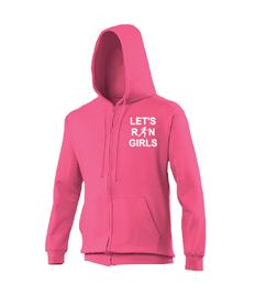 Let's Run Girls Zip Hoodie