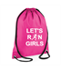 Let's Run Girls Budget gymsac