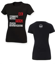 Fitness Rush Women's Slogan Stretch T-Shirt
