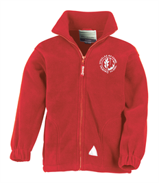 Red Junior PolarTherm™ Fleece jacket with embroidered logo
