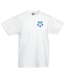 White PE T Shirt Transfer Logo