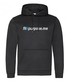 AWD Sports polyester hoodie with Fit4Purpose printed full chest