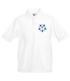 White Polo Shirt with Embroidered Logo