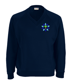 Navy Sweatshirt with Embroidered Logo