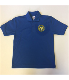 SYG Juniors Children's Royal Blue Polo Shirt with Embroidered Logo