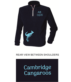 Cambridge Cangaroos 1/4 Zip Training Top