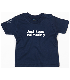 Little Aqua Just Keep Swimming T-shirt Ages 3 months - 2 years