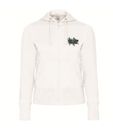 See More Fitness Hooded Full Zip Women Embroidered Logo