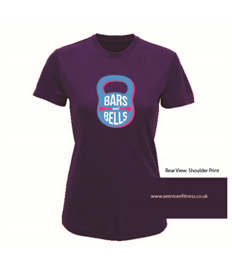 See More Fitness Womens Bars And Bells Performance Tee