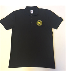 SYG Amecus Black Polo Shirt with Embroidered Logo