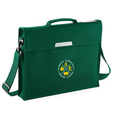 Academy book bag with shoulder strap Warboys Community School embroidered