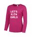 Let's Run Girls long sleeve cool T