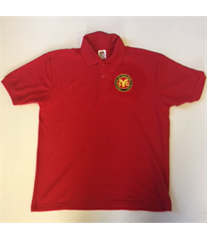 SYG Seniors Youth Red Polo Shirt with Embroidered Logo