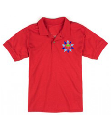 ONLY FOR YEAR 6 Red Polo Shirt with Embroidered Logo