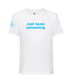 Little Aqua Just Keep Swimming T-shirt Ages 3-13 years